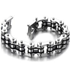 mens stainless steel chain bracelet images Masculine mens bike chain bracelet of stainless steel jpg