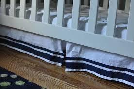 how to shorten a crib skirt living on grace