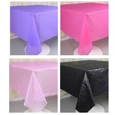 plastic table covers for weddings 2pc waterproof table cover party solid round plastic tablecloths