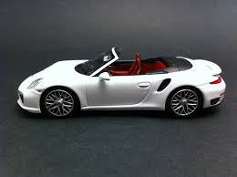 porsche cabriolet 2014 porsche 911 type 991 turbo s cabriolet 2014 white 1 43 minichamps