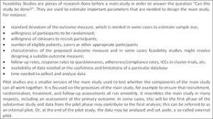 design studies journal template defining feasibility and pilot studies in preparation for randomised