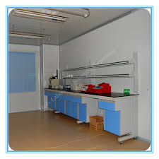 Wood Bench With Metal Legs Steel Wood Lab Furniture Guangdong Huilv Laboratory Equipment