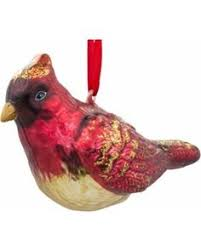 world northern cardinal glass ornament northern