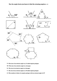 Finding Interior Angles Of A Polygon Worksheet Compound Areas Involving Triangles And Rectangles And Yachts
