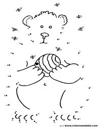 dot coloring pages bear dot to dot coloring page create a printout or activity
