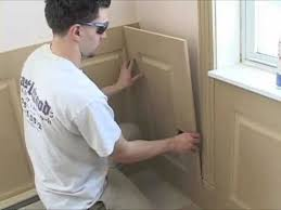 Recessed Wainscoting Panels Installing Wainscoting Panels Youtube