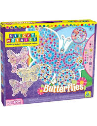 sticky mosaics u2013 butterflies mosaic by numbers kit 4 projects
