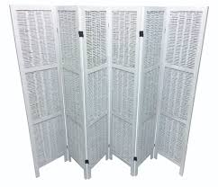 shabby chic wicker room divider screen 6 panel white u2013 room