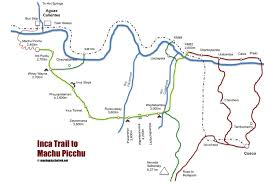 Weather Classic Map Inca Trail Trek To Machu Picchu A True Trekking Classic