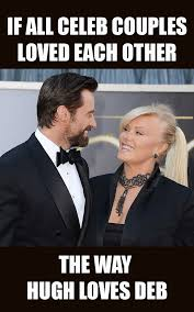 marriage caption hugh jackman gives of my deb a shout out on their 21st