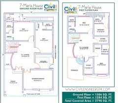 plan marla house civil engineers pk construction map designs