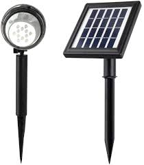 high lumen solar spot lights amazon com microsolar 12 led lithium battery 0 5 watt 50