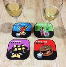 drink coasters botanical drink coasters mixed set of 4 6pcs cup