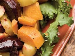 Recipe For Roasted Root Vegetables - roasted root vegetables u0026 horseradish vinaigrette recipe myrecipes