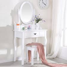 coiffeuse blanche si e avec miroir inclus cdiscount coiffeuse avec miroir et tabouret à 82 80 livraison