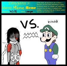 Weegee Memes - internet meme 703 vs weegee by cielos girl on deviantart