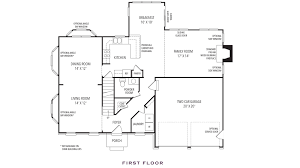 Peninsula Kitchen Floor Plan by Homes Oak Hill Properties