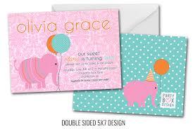 pink damask elephant birthday invitations damask birthday party