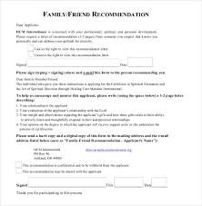 College Letter Of Recommendation From A Family Friend best ideas of 22 re mendation letters for a friend free sle