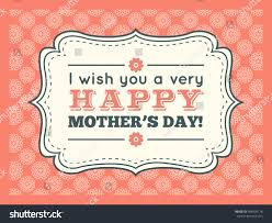 Wishing You A Very Retro by Happy Mothers Day Typography Letter Font Stock Illustration