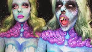 evil mermaid halloween makeup u0026 body painting tutorial ash