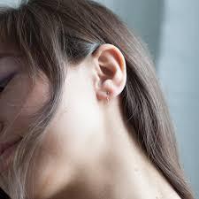 two earrings two step chain earrings sapphire catbird