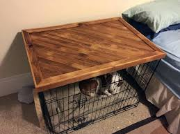 dog crate nightstand design decoration