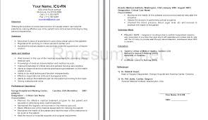 Nurse Resume Builder Registered Nurse Resume Samples Create My Resume Get 10 Premium