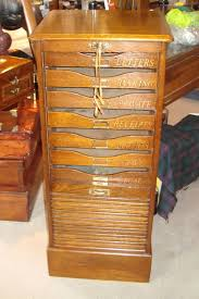 an oak circa 1930 u0027s tambour fronted filing cabinet with ten