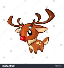 illustration happy cartoon christmas red nose stock vector