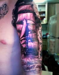 tattoo for biceps amazing pirate ship tattoo for biceps tattoos book