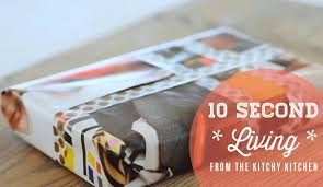 wrap wrapping paper how to wrap a gift without wrapping paper 10 second living