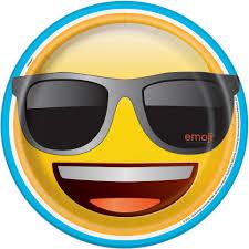 sunglasses emoji paper plates emoji party supplies