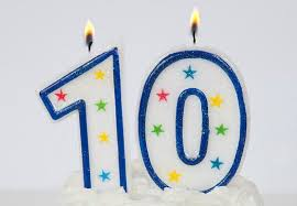 number birthday candles painting decorative number 10 birthday candle with blue line