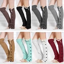 womens boot socks canada 2018 2015christmas gift womens boot socks leg warmer lace button