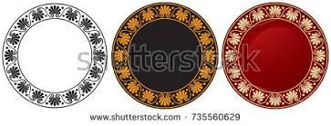 Greek Black Figure Vase Painting Ancient Greece Ornament Octant Meander Decor Stock Vector 93900958