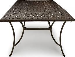 Aluminum Outdoor Patio Furniture by Strathwood St Thomas Cast Aluminum Rectangular Patio Table