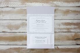 Wedding Invitations Brisbane Little Peach White Folder U0026 Confetti Letterpress