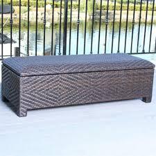 outdoor wicker storage ottoman best selling home decor 227433 santiago brown wicker storage ottoman