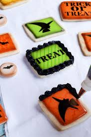 simple halloween cookies made with fun stencils the bearfoot baker