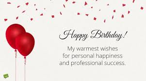 warmest wishes photo card professionally yours happy birthday wishes for my happy