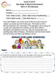 yr 7 roman homework level 3 and 4