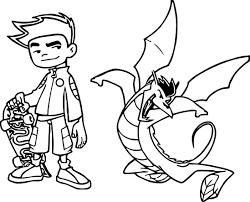 american dragon jake long kick coloring page wecoloringpage
