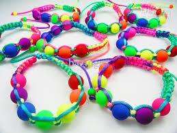 color bead bracelet images 2018 new arrival fluorescence braided bracelets candy color resin jpg
