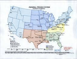 federal bureau of prisons we bureau of prison map 119 locations