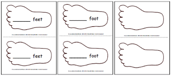 printable feet template pattern a to z teacher stuff printable
