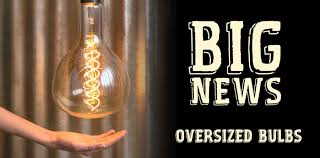 vintage oversized light bulbs with antique filaments pendant