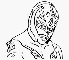 vibrant ideas rey mysterio mask coloring pages 7 rey happy for