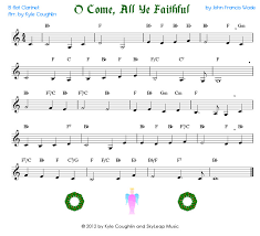 o come all ye faithful for the clarinet free printable pdf