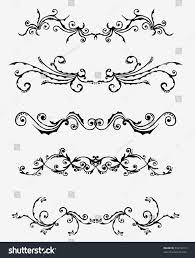 5 sets decorative ornaments stock vector 33474313